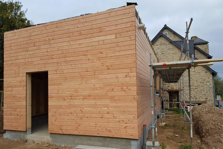 PROBOIS CONCEPT Menuisier Rennes Bardage Extension Bois 19