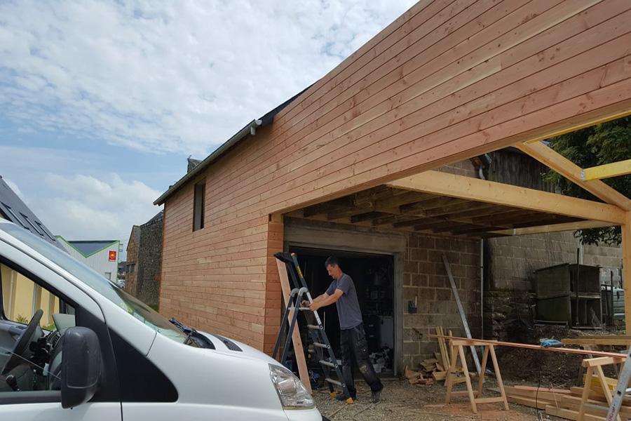 PROBOIS CONCEPT Menuisier Rennes Bardage Extension Bois 3